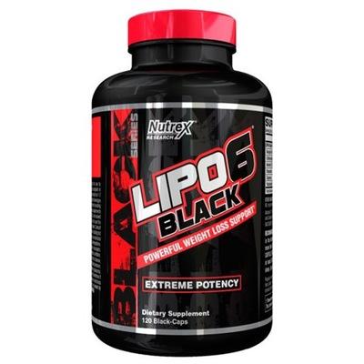 NUTREX LIPO 6 BLACK 120kap HARDKOROWY SPALACZ USA