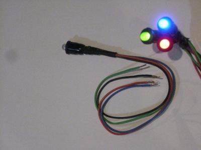 KONTROLKA СВЕТОДИОД LED RGB 5MM/8MM 12V 24V MLECZNA RTF