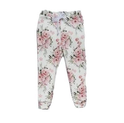 leginsy dziewczece dresowe bukiety róż handmad 104
