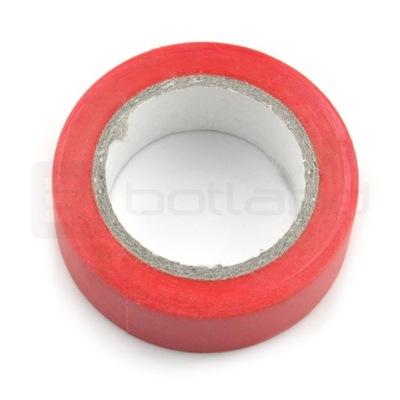 Taśma izolacyjna 19mm x 10m czerwona