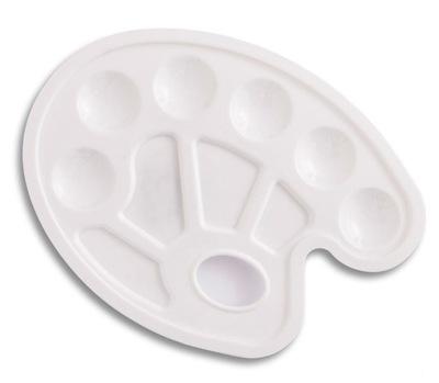 палитра малярная, пластмассовая - белая , 23 x 17 см