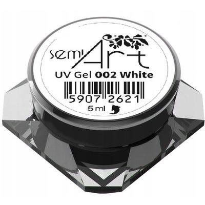 SEMILAC SEMI ART 5ml żel UV do zdobień 002 WHITE