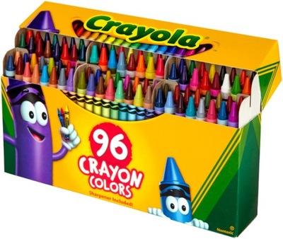 CRAYOLA CRAYON kredki świecowe 96 kolorów