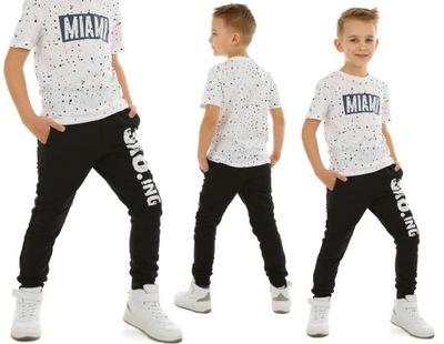 OCIEPLANE Spodnie dla chłopca SKA8TING 140 CZARNY