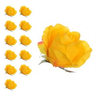 SZTUCZNE RÓŻE główki kwiatowe RÓŻA PĄK 8 cm 12 SZT