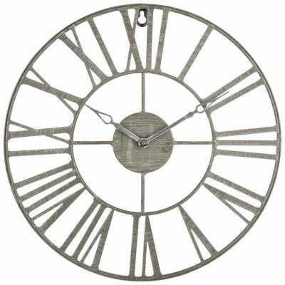 Zegar ścienny metalowy VINTAGE Ø 37 cm kolor szary