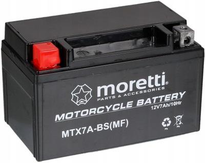АККУМУЛЯТОР ŻELOWY MORETTI YTX7A-BS/MTX7A-BS