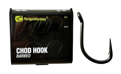 RidgeMonkey Haki Chod Hook Barbed Size 4