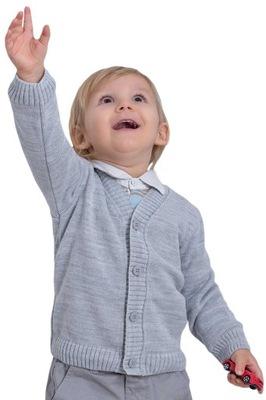 Szary sweterek dla chłopca r.86
