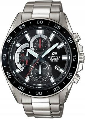 Zegarek męski Casio edifice efv 550d 1avuef z srebrną bransoletą