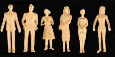 Ludziki Figurki na makietę H0 1:87 do malowania