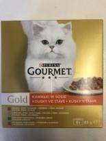 Gourmet Gold kawałki w sosie 32 x 85 g (zestaw 3)