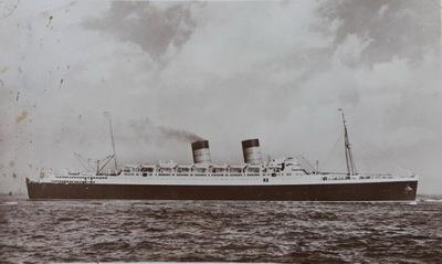 Открытка Cunard White Star S .S . Мавритания
