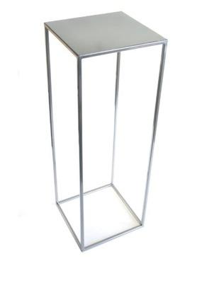 Kwietnik, stojak kwiaty loft 70 cm srebrny met 363