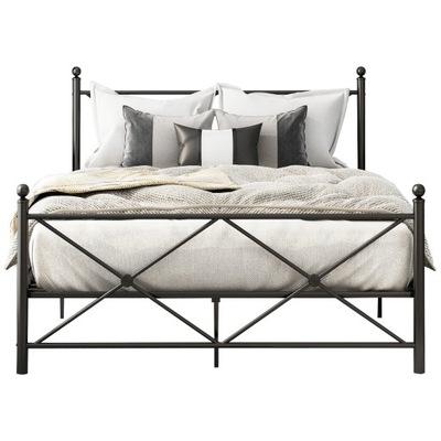 Rama łóżka, czarna, metalowa,140* 200cm