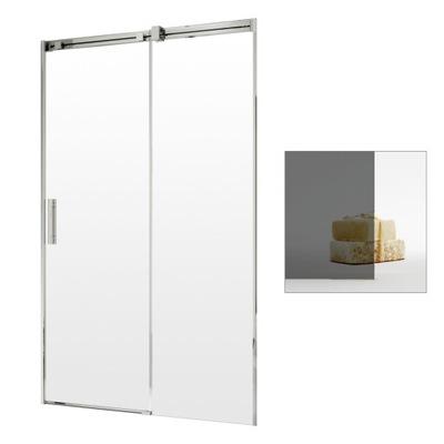 Drzwi prysznicowe wnękowe przesuwne 160 P grafit