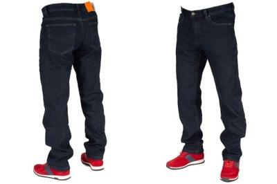 Spodnie męskie jeans ocieplane W:34 90CM L:30