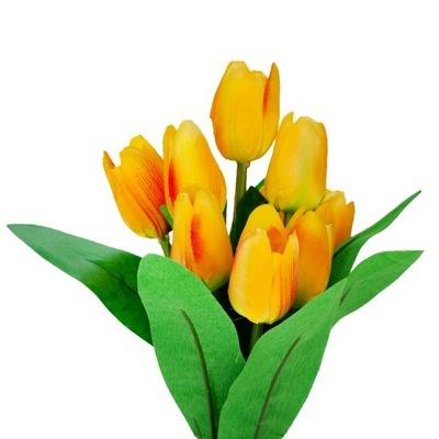 ТЮЛЬПАН Тюльпаны искусственные цветы 37cm 9pcs Желтый