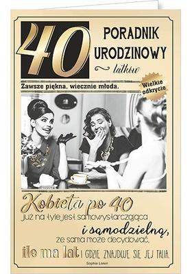 Kartka na 40 urodziny dla kobiety koleżanki U79