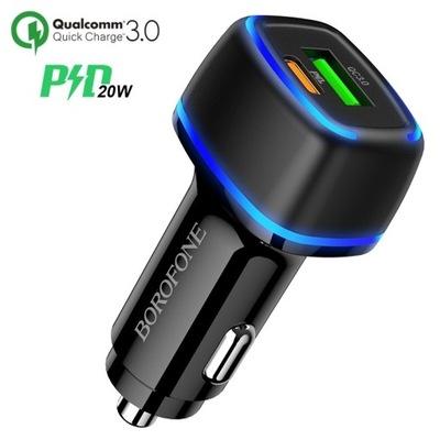 BZ14A ЗАРЯДНОЕ УСТРОЙСТВО АВТОМОБИЛЬНАЯ USB TYPE-C PD20W QC3.0
