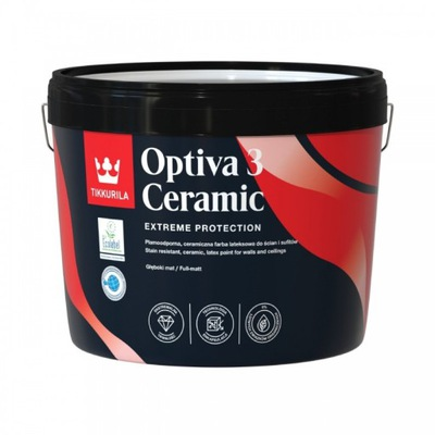 TIKKURILA OPTIVA CERAMIC 3 farba lateksowa 9L A