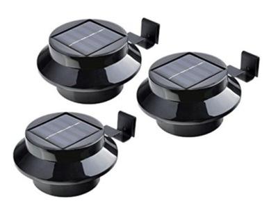 Lampa solarna oświetlenie LED 3szt rynnowe rynny