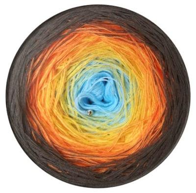 motek ombre, ombre yarn, włóczka 800m 3nitki