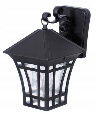 Lampa zewnętrzna KINKIET czarny latarnia ALUMINIUM