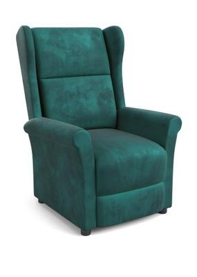 Fotel rozkładany AGUSTIN zieleń uszak podnóżek