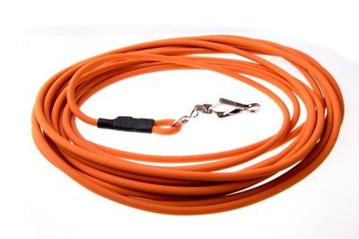 tréningová šnúra, šnúrka, 10m biothan oranžová