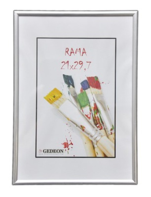 RAMKA na zdjęcia A4 dyplomowe 21x30 cm srebrna