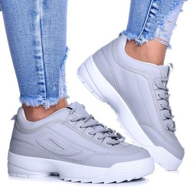 Buty Damskie Adidasy sneakersy Helly Szare r.40