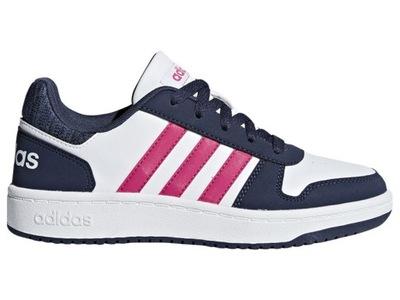 Adidas Buty Dziecięce Sportowe Hoops 2.0 K - 31,5