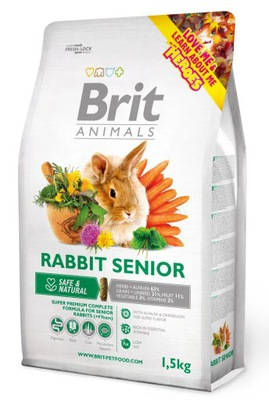 Brit Animals karma dla królika Rabbit Senior 1,5kg