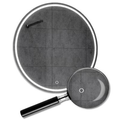 Okrúhle LED zrkadlo s 110 cm dotykovým spínačom