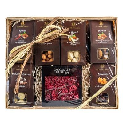 БОЛЬШОЙ Корзина с подарками комплект шоколад премиум