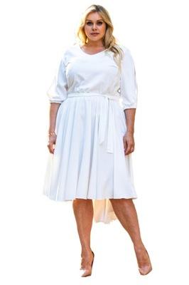 Sukienka rozkloszowana OLIWIA biała 38