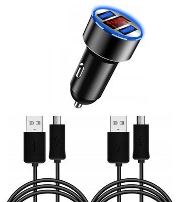 POTENTE DISPOSITIVO DE CARGA 12V 2XUSB 3.1A + 2 CABLES MICRO USB