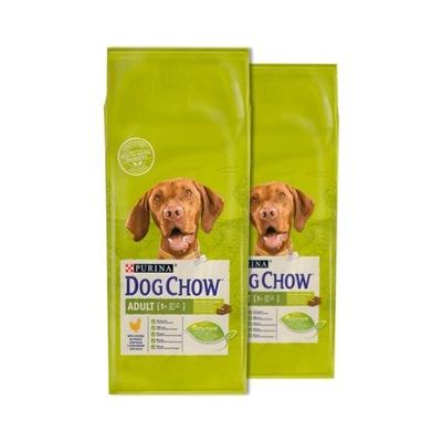 DOG CHOW ADULT CHICKEN KURCZAK 14kg X2