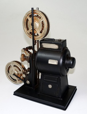 Projektor filmowy MODEL z metalu DEKORACJA atrapa