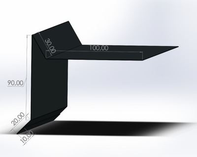 Wiatrownica под папу Галька Антрацит RAL7016 обработки