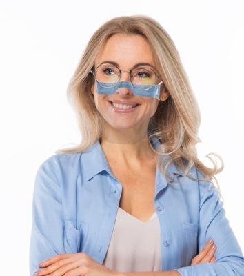 mini przyłbica zakrywająca na usta i nos ochronna