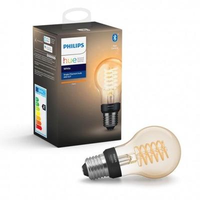 Philips Odtieň 7W E27 bublina V 2100K BT vlákna