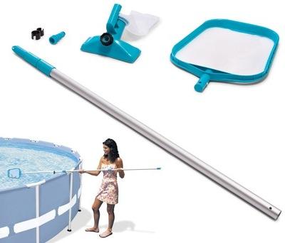 Zestaw do czyszczenia basenu odkurzacz siatka