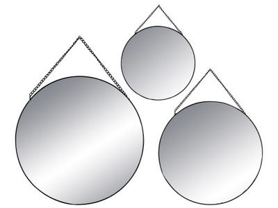 3x зеркало - ЗЕРКАЛА В ЧЕРНЫЙ ПЛЕЧО ЗЕРКАЛА Круглые