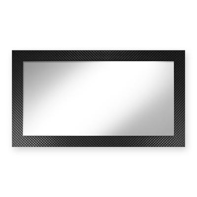 Lustro efekt ozdoba 50/100 czarny wzór pikowany