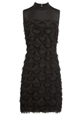 R237 BPC Sukienka z frędzlami r.44