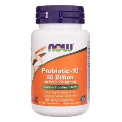 NOW Probiotic 10 25 Bilion 50K Probiotyk Mocny