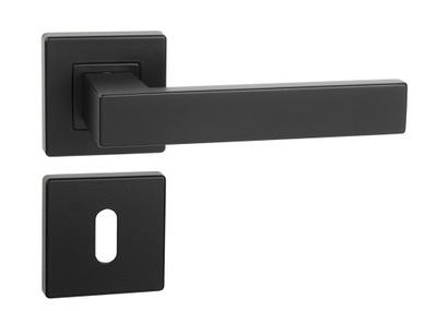 klamka ERGO czarny VELVET + rozety pod klucz
