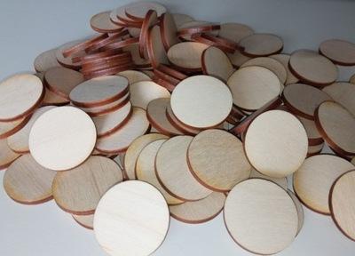 Kółka drewniane żetony 3cm średnicy 50 szt